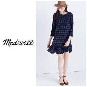 EUC Madewell Windowpane Dress